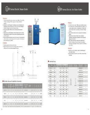 WDR Series Electric Hot Water Boiler