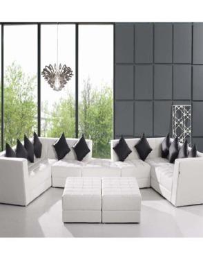 White Modern Chair Leisure Genuine Leather Sofa Home Furniture