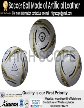 Soccer Ball made of Artificial Leather All sizes are available