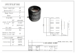 10Megapixel Manual iris CCTV Lens