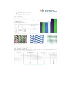plastic plain mesh