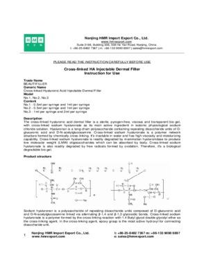 Hyaluronic acid injectable dermal filler