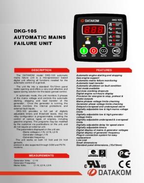 DKG 105 Automatic Mains Failure Unit