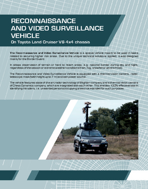 Armoured Toyota LC 200 in B6 class - reconnaissance and video surveillance
