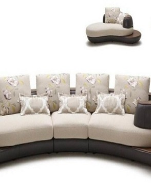 Upholstery European Style Italian Leather Living Room Sofa Bed