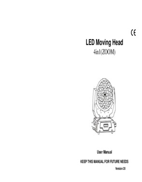 36*10W Led Zoom wash moving head light