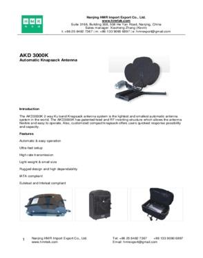 AKD 3000K Automatic Knapsack Antenna
