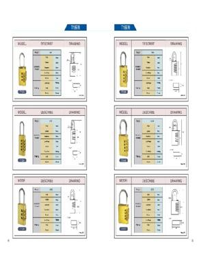 Combination Aluminum padlock best quality by  Shandong Keep Intl Trading Co.Ltd