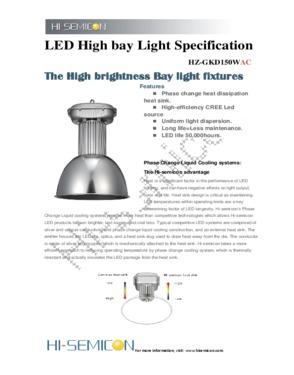 150W LED High Bay Lighting (HZ-GKD150WAC)