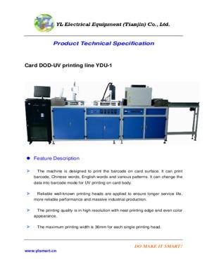 Card DOD-UV Barcode printing line