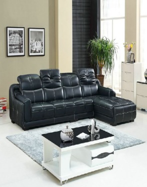 Living Room Home Leather Sofa
