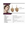 Black Elegant Fashion Crystal Clip Earrings