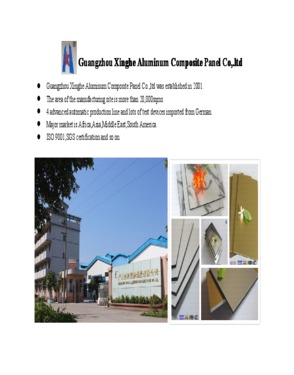 durable exterior pvdf aluminum composite panel for building
