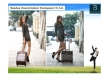 Rolling wheels cheap price promotion ABS travel trolley case