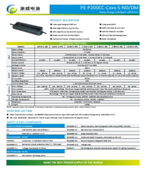 200W LED Driver/applied to LED Street light, LED tunnel light