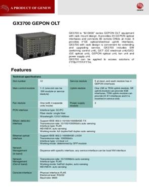 GX3700 EPON OLT