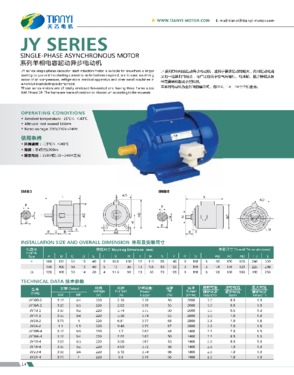 JY Series Single Phase Motor With Capacitor Start