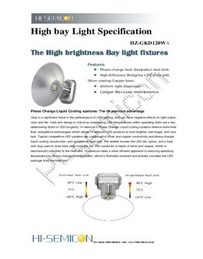 120W High bay light