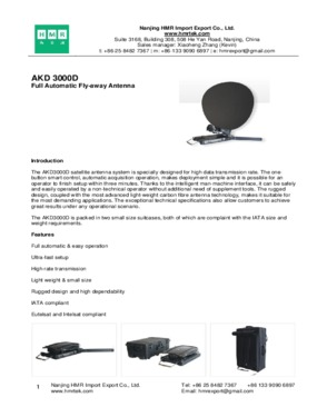 AKD 3000D Full Automatic Fly-away Antenna