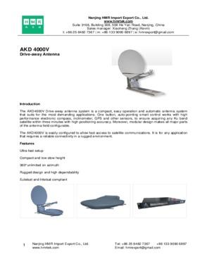 AKD 4000V Drive-away Antenna