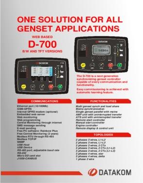 D 700 Advanced Genset Synchronization Controller