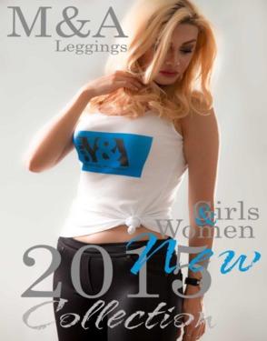 M&A Blue Leggings 5907