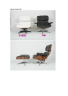 Replica Charles Eames lounge chair with ottoman/