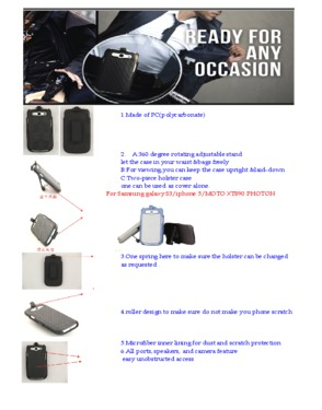 holster case for iphone 5/S3/MOTO