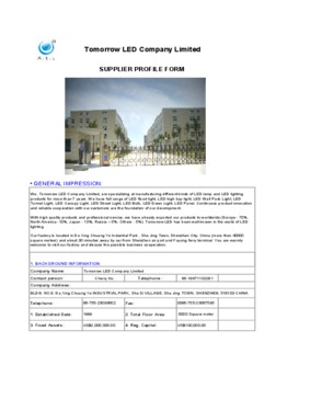 Tomorrow LED Company Limited