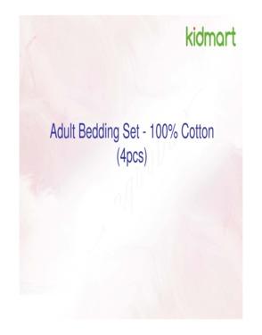 Adult Bedding Set