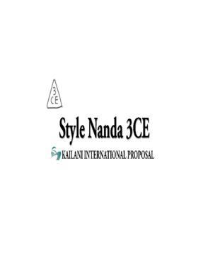Kailani Style-Nanda 3 Concept Eyes (3CE) KOREA COSMETICS
