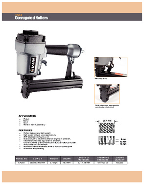 CF25S Crown 25.4 mm Corrugated Nailer