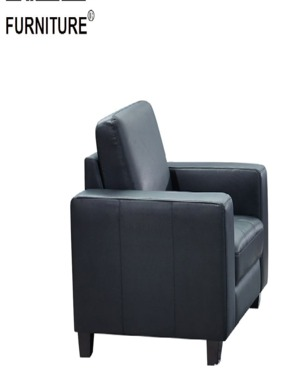 American Modern Living Room Furniture Black Leather Sectional Couches