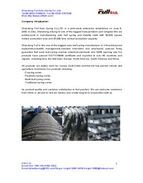 Shandong Full Auto Spring Co., Ltd.