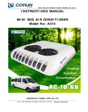 Hot Sale Roof Top Mounted Van Air Conditioning10KW