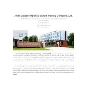 Jinan Ziquan Import & Export Trading Company., Ltd