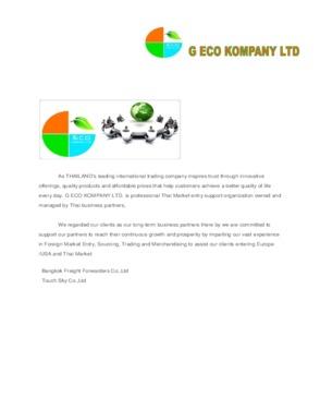 G ECO KOMPANY LTD
