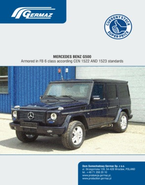 Armoured Mercedes G500 in B6 class