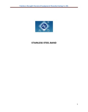 Stainless steel band characters and craftwork characteristics