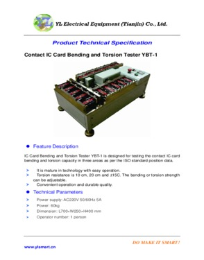 Contact IC Card Bending and Torsion Tester
