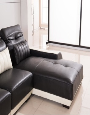 European Modern Furniture Sectional L Shape Leather Sofa Couch