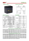 Deep cycle AGM batteries 6V-210AH