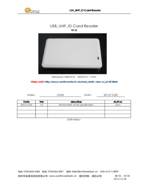 USB UHF ID card reader