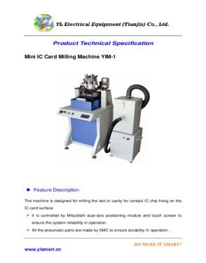 Contact IC Card Module Cutter  milling machine  implanting machine