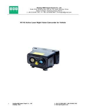 NV H2 Active Laser Night Vision Camcorder for Vehicle