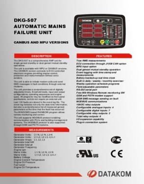 DKG 507 CAN/MPU Automatic Mains Failure Unit