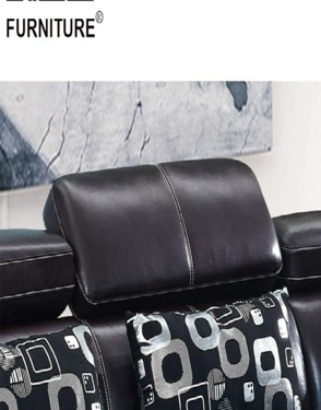 Modern Sectional Home Furniture L Shape Corner Leather Sofa Set