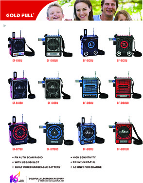Torch Light Hot Sell Fashion Portable Radio with usb/sd Player