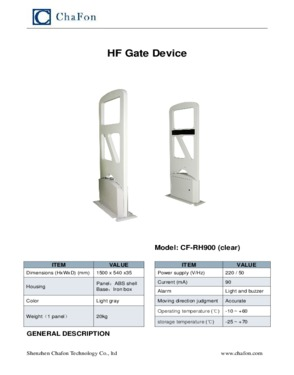 HF rfid gate antenna reader