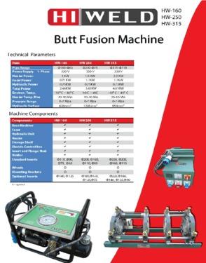 Hiweld 160 Butt Fusion Welding Machine